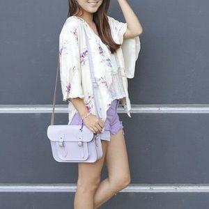 Cambridge Satchel Bag in Purple